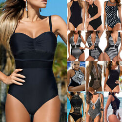 One Piece Bikini Women#x27;s Monokini Tummy Control Swimsuit Bathing Suit Swimwear $15.57