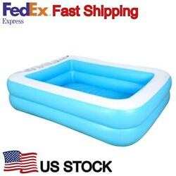 Inflatable Paddling Swimming Pool Indoor Outdoor for Kids Toddlers in Summer