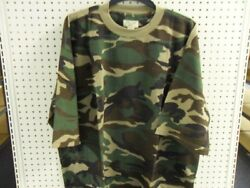 Camo SS T Shirt Waffle Knit Big Mens TEE 6X WOODLAND Brand New In Pack $9.99
