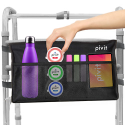 Pivit Universal Rollator Walker Bag Tote Caddy Accessories Carrier For Seniors $13.99