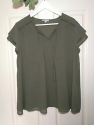 Womens Target Collection Top Size 14 Olive Green Blouse Lined Work Event AU $8.00