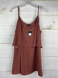 City Chic Trendy Plus Size Tiered Camisole Plus Size M 18 Sleeveless Blouse NWT $19.99