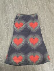 OMIGHTY One Love Tie Dye Maxi Skirt Size SMALL $60.00