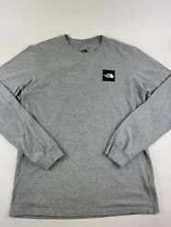 The North Face Black Men's Long Sleeve Red Box T Shirt Size M $19.30