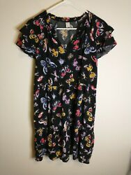 Old Navy Black Floral Dress Size Small $24.00