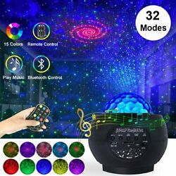 LED Projector Galaxy Starry Night Light Ocean Star Sky Party Speaker Lamp Remote $13.67