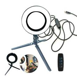 """6.3"""" LED Ring Light Lamp Phone Selfie Camera Studio Video Dimmable Tripod Stand $15.79"""