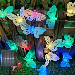 Solar Powered Fairy String LED Lights Waterproof Butterfly Party Garden Outdoor $17.89