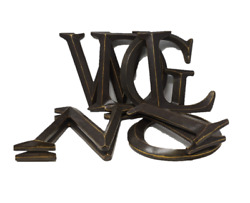 Hobby Lobby 12quot; Bronze Polystone Letter Various Letters D G I L N O W $7.59