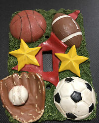 Sports Theme Boys Bedroom Single Toggle Light Switch Plate Cover $9.99