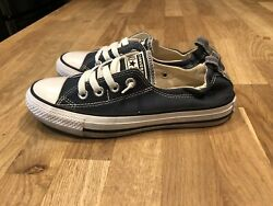 Converse All Star Womens CTAS Shoreline Casual Shoes Navy Blue Size 6 Slip On $22.00