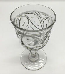 Antique quot;BULL#x27;S EYEquot; Flint Water Goblet Knobbed Stem c.1850 $30.00