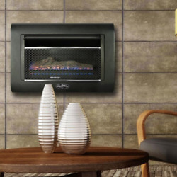 1400ft² Heater Gas Wall Fireplace Thermostat Modern Linear Ventless Firebox $399.99