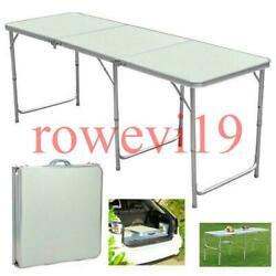 Portable Aluminum 6ft Folding Table In Outdoor Picnic Party Dining Camping Table $37.99