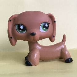 Littlest Pet Shop LPS Brown Dachshund Dog Cute Puppy Doll Toy Collection Figure $11.29
