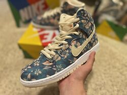 Nike SB Dunk high Hawaii Floral Size Sz 10 Multi Deadstock 100% Authentic DS $314.99