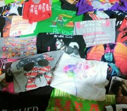 Wholesale Bulk Lot 25 Graphic amp; Novelty Women#x27;s Shirts Assorted Styles amp; Colors $55.00