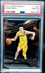 Lonzo Ball 2017 Panini SELECT quot;COURTSIDEquot; PSA 10 Rookie RC Gem Mint LOW POP