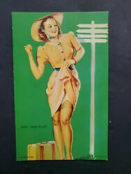 MUTOSCOPE ALL AMERICAN GIRLS quot;KNEE DING A LIFT quot; UNCIRCULATED PINUP EXHIBIT $6.77