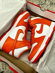 Nike Dunk High Size W 9 M 7.5 Syracuse Orange DD1869 100 IN HAND $190.00