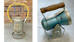 lot of 2 vtg FLASHLIGHT LANTERNS adlake amp; STAR UNTESTED FOR PARTS OR REPAIR ONLY $26.59