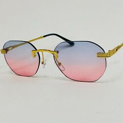 Women Sunglasses Blue Pink Lens Round Luxury Celebrity Style New Model Eye Wear