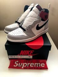 Nike Air Jordan 1 Light Smoke Grey Retro High Size 8 Men BRAND NEW 555088 126 $285.00