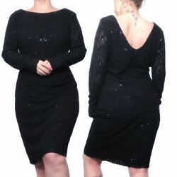 RALPH LAUREN Black sequin dress Women's Size 14