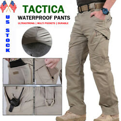 LEWYINSAX Tactical Combat Pant Men#x27;s Work Cargo Pants Outdoor Hiking Trousers $29.99