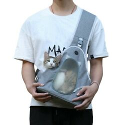 Pet Carrier Shoulder Bag Space Capsule Travel Tote Puppy Dog Cat Chest Backpack $22.99