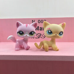 Littlest Pet Shop LPS 816 1788 Sweet Pink Yellow Kitty Cute Toys Gift For Kids $13.68