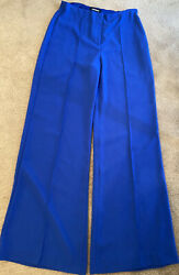 Express cobalt blue seamed high waisted wide legged pants size 8 $14.40