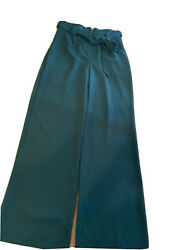 Express teal high waisted wide leg pants size 8 $12.99