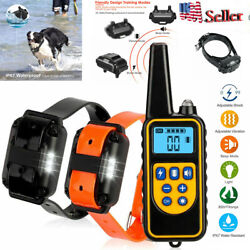 2600 FT Training Dog Bark Collar Rechargeable Remote Shock Waterproof Trainer $37.04
