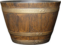 Classic Home and Garden 72 Whiskey Barrel 15quot; Distressed Oak $23.22