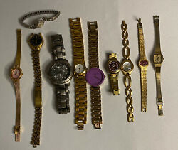 Lot of 12 Watches Not Tested DKNY Fossil Citizen Etc $45.00