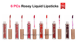 Romantic Beauty Rosey Matte Liquid Lipsticks All 6 colors Red Shades NEW $14.99