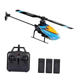 C129 RC Helicopter for Adults and Kids 4 Channel 2.4Ghz 3 Batteries Blue $103.07