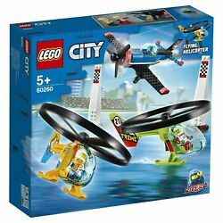 LEGO 60260 CITY Air Race Flying Helicopter Toy 140pcs Brand New Sealed $35.95