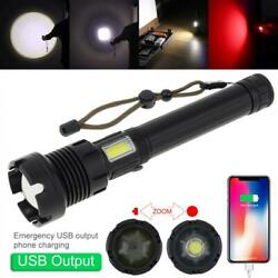 7 Modes 9000LM LED Flashlight Rechargeable USB Zoomable for Hunting Camping $30.59