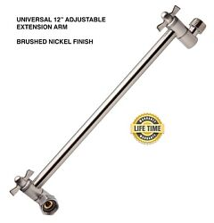 12.6quot; Adjustable for heights Shower Extension Arm Brushed Nickel Finish NEW $19.99