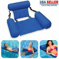 Swimming Floating Chair Pool Seats Inflatable Lazy Water Bed Lounge Chairs UE $15.99