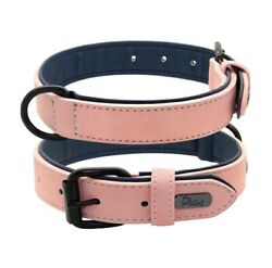PINK DOG LEATHER COLLAR LEASH Very good quality all sizes available. C $30.00