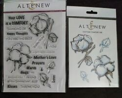 NEW ALTENEW Cotton Comfort Clear Stamp and Coordinating Die Set $26.00