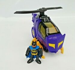 Imaginext Batman Helicopter Bat Copter with Figure Fisher Price Bundle Playset GBP 14.99