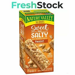 Nature Valley Sweet and Salty Nut Granola Bars Peanut Snack Bars 36 ct $13.44