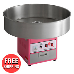 Commercial Indoor Outdoor Cotton Candy Machine 28quot; Stainless Steel Bowl 110V