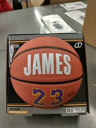 LEBRON JAMES SPALDING Outdoor Basketball 29.5quot; Full Size Lakers 23 $24.00