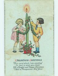 Pre Linen christmas KIDS DECORATE GIANT CANDLE WITH HOLLY HL0311 C $2.41
