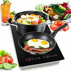 Dual 120V Electric Induction Cooker 1800w Digital Ceramic Countertop $227.99